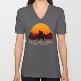 Bigfoot - Hide and Seek World Champion Unisex V-Neck