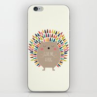 hug iPhone & iPod Skins featuring Give Me A Hug by Andy Westface