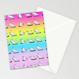 Unicorn Yoga Pattern Rainbow Stationery Cards