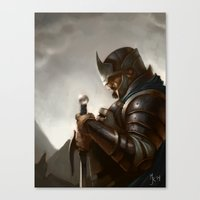 knight Canvas Prints featuring knight by Michael B. Myers Jr.
