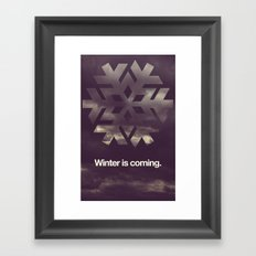 Winter is coming. Framed Art Print