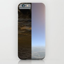 Hubble Space Telescope - Artist illustration showing clear skies on planet HAT-P-11b iPhone Case