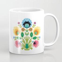 Polish Folk Flowers Pink and Yellow Coffee Mug