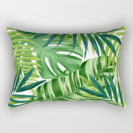 Tropical leaves III Rectangular Pillow