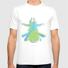 Mevlana - Whirling Dervish White MEDIUM Mens Fitted Tee