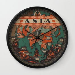 The Asia Chart of Knowledge Wall Clock