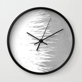 Concrete Fringe White Side Wall Clock