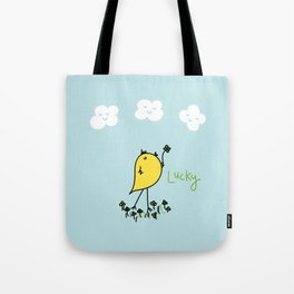 Chirp and Whistle Lucky Bird Tote Bag
