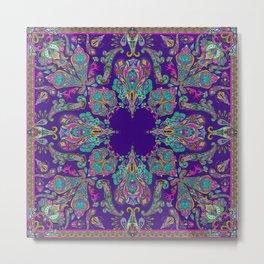 Purple Gipsy Paisley Metal Print