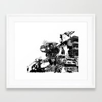 fries Framed Art Prints featuring Fries by Nico Traut
