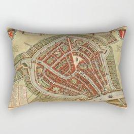 Map Of Gouda 1650 Rectangular Pillow