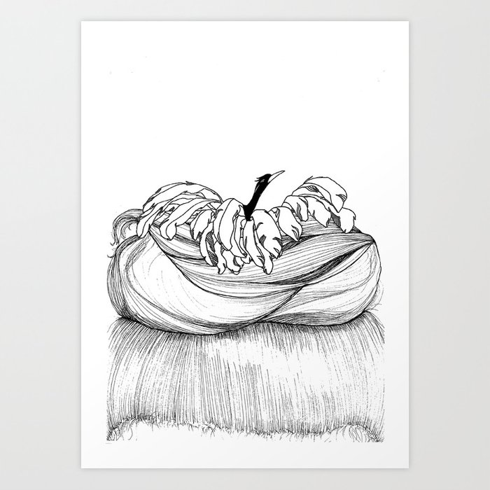hair knots Art Print