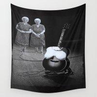twins Wall Tapestries featuring Twins by Kristina Haritonova