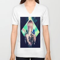 ghost in the shell V-neck T-shirts featuring ghost in the shell tribute: 25th anniversary  by CandiCollage