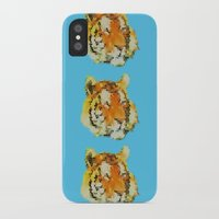 tigers iPhone & iPod Cases featuring Tigers by Nahal