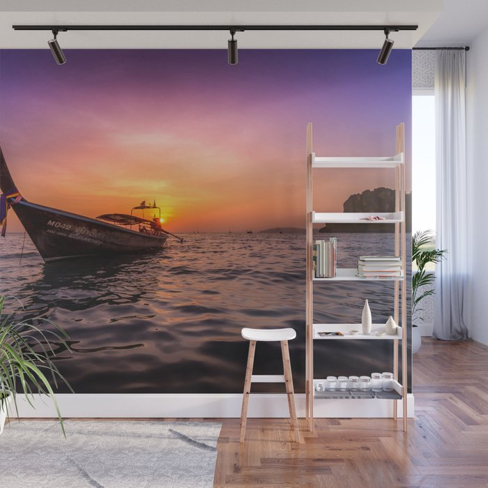 Longtail Sunset Wall Mural By Nicklasgustafsson Society6