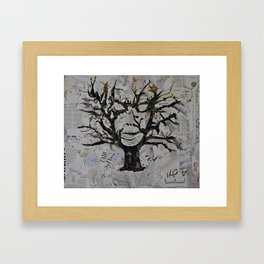 TreeFace Framed Art Print