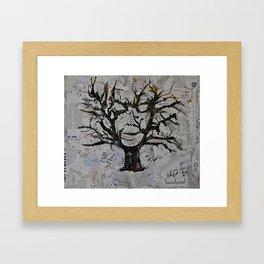 TreeFace Framed Art Print