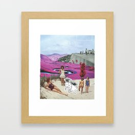 Look With Your Eyes, Not Your Hands Framed Art Print