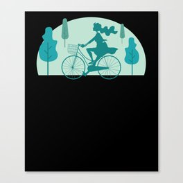 Cute Bicycle Gift I Funny Cycling Trekking Gift design Canvas Print