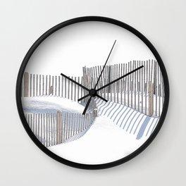 Winter Beach 2015 Wall Clock