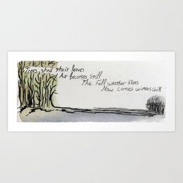 Winter Poem Art Print
