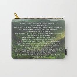 Psalms 23 Lords Prayer Carry-All Pouch