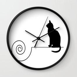 les chats #4 Wall Clock