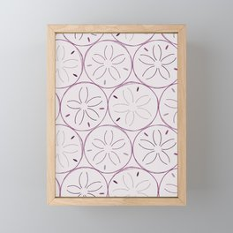 Sanddollar Pattern in Purple Framed Mini Art Print