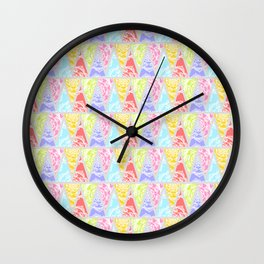 Lacy Triangles Wall Clock