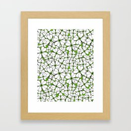 Line art - Clover : Green Framed Art Print