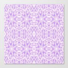 Lavender Floral Pattern Canvas Print