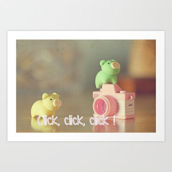 Click,click, click ! Art Print