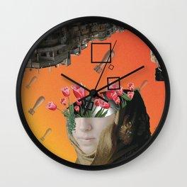 Flower of Syria Wall Clock