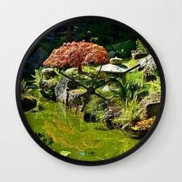 SF Japanese Tea Garden Study 1 Wall Clock