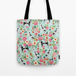 Great Dane dog breed florals mint pattern print for dog owner with great dane must have gifts Tote Bag