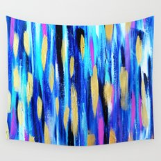 The Blues - Abstract art Wall Tapestry
