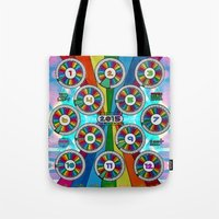calendar 2015 Tote Bags featuring 2015 Rainbow Calendar . style C by Rel+