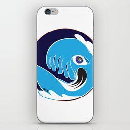 Waveboarder Smiley iPhone Skin