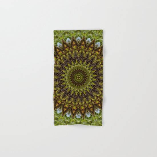 Kaleidoscope No. 6 - Green Hand & Bath Towel