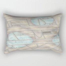 Columns Gone Awry Rectangular Pillow