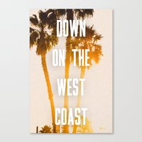 west coast Canvas Prints featuring WEST COAST by Jack Stobart