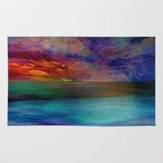 Ocean at Sunset Rug