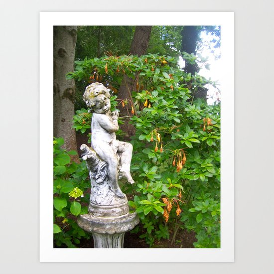 Irish Garden Statue  Art Print