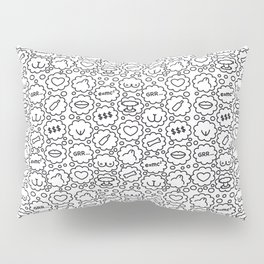 Thought Bubbles Funny Sexy Comic Illustration Pillow Sham