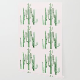 Three Amigos Pink + Green Wallpaper