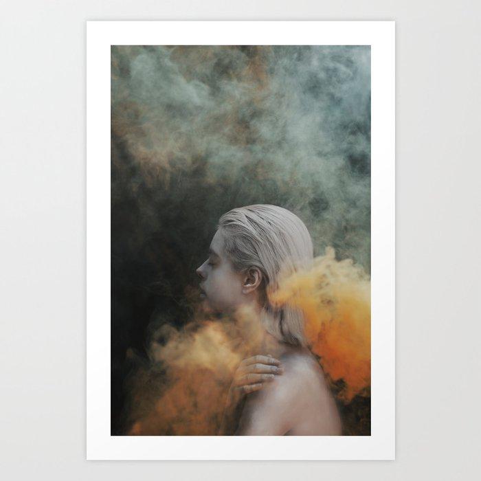 Yellow smoke Art Print