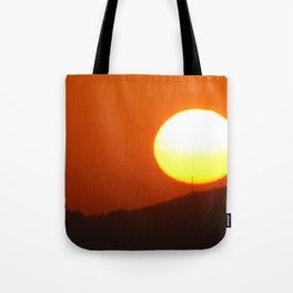 .away from the sun. Tote Bag