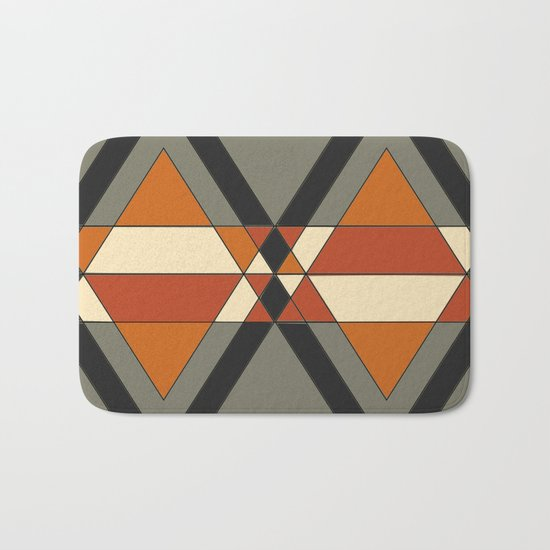 Tribal geometry Bath Mat
