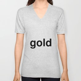 gold Unisex V-Neck